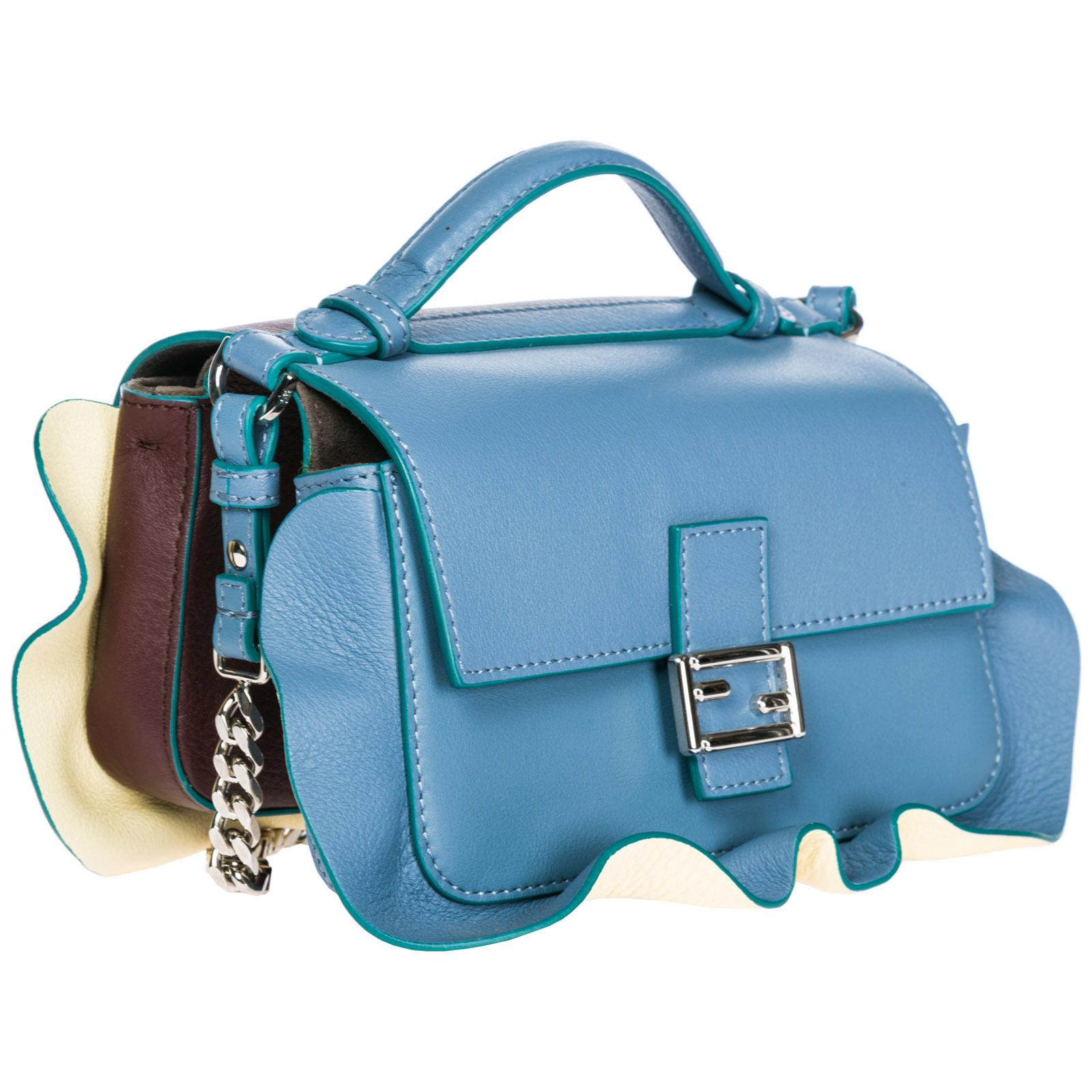 ... Women s leather shoulder bag doppia micro baguette ... 52bc60d3e3c