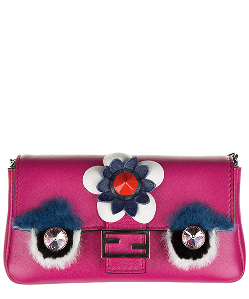 Mini bag Fendi Baguette 8M0354 7JC F02L3 fucsia