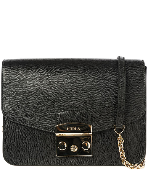 Women's leather cross-body messenger shoulder bag metropolis