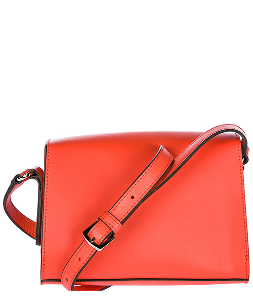 Women's leather cross-body messenger shoulder bag milano secondary image