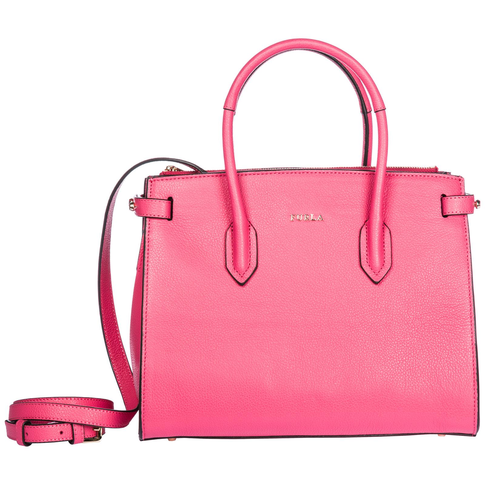 425271868f Furla Women s leather handbag shopping bag purse pin