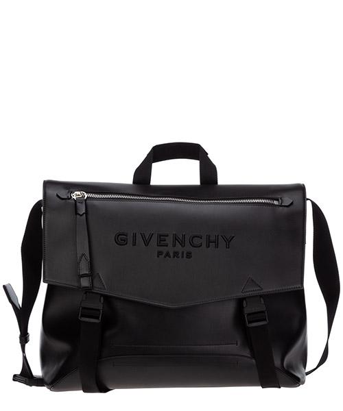 Men's leather cross-body messenger shoulder bag downtown