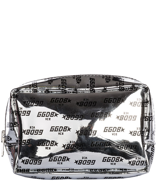 Beauty case Golden Goose G33WA237.A6 silver embossed