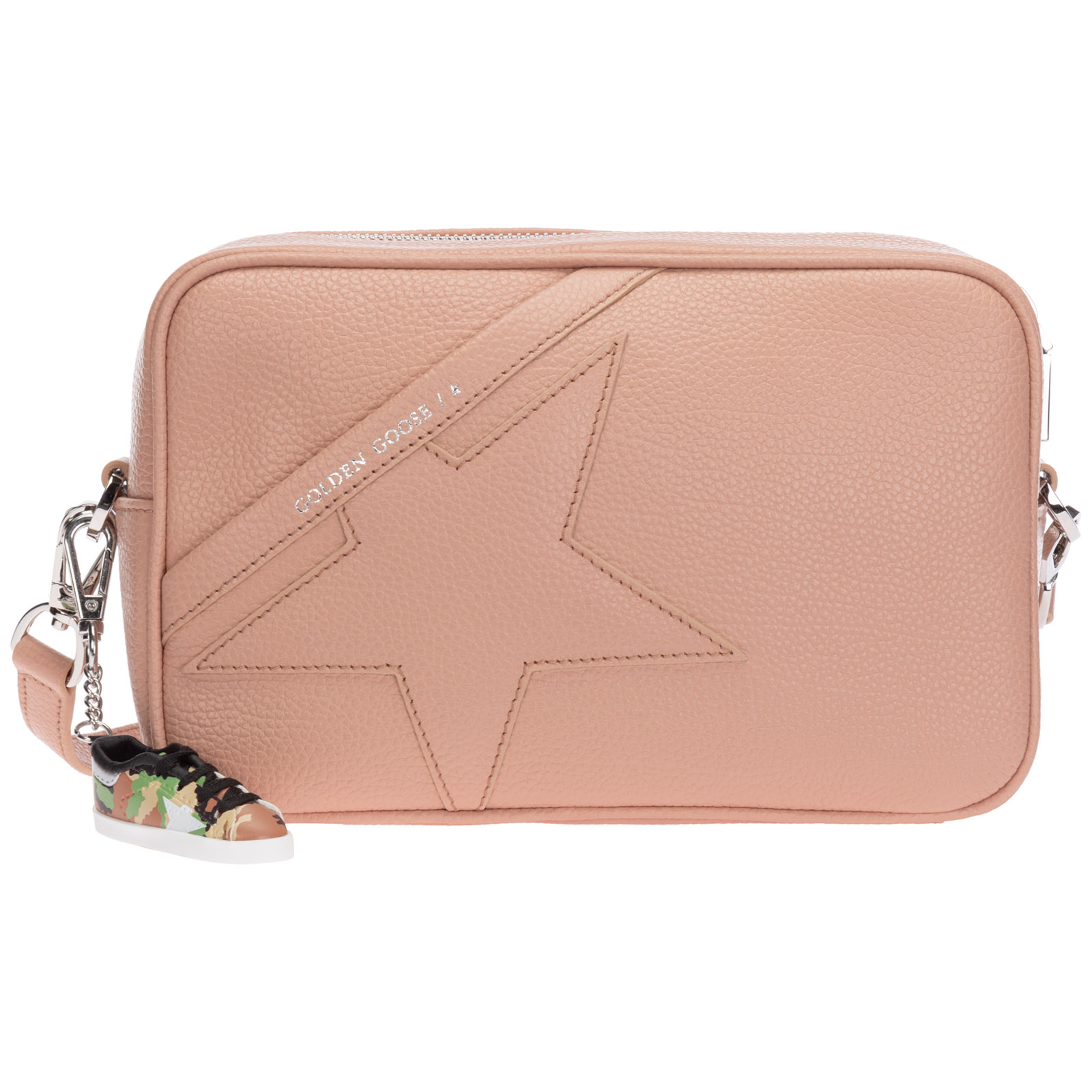 Golden Goose WOMEN'S LEATHER CROSS-BODY MESSENGER SHOULDER BAG STAR