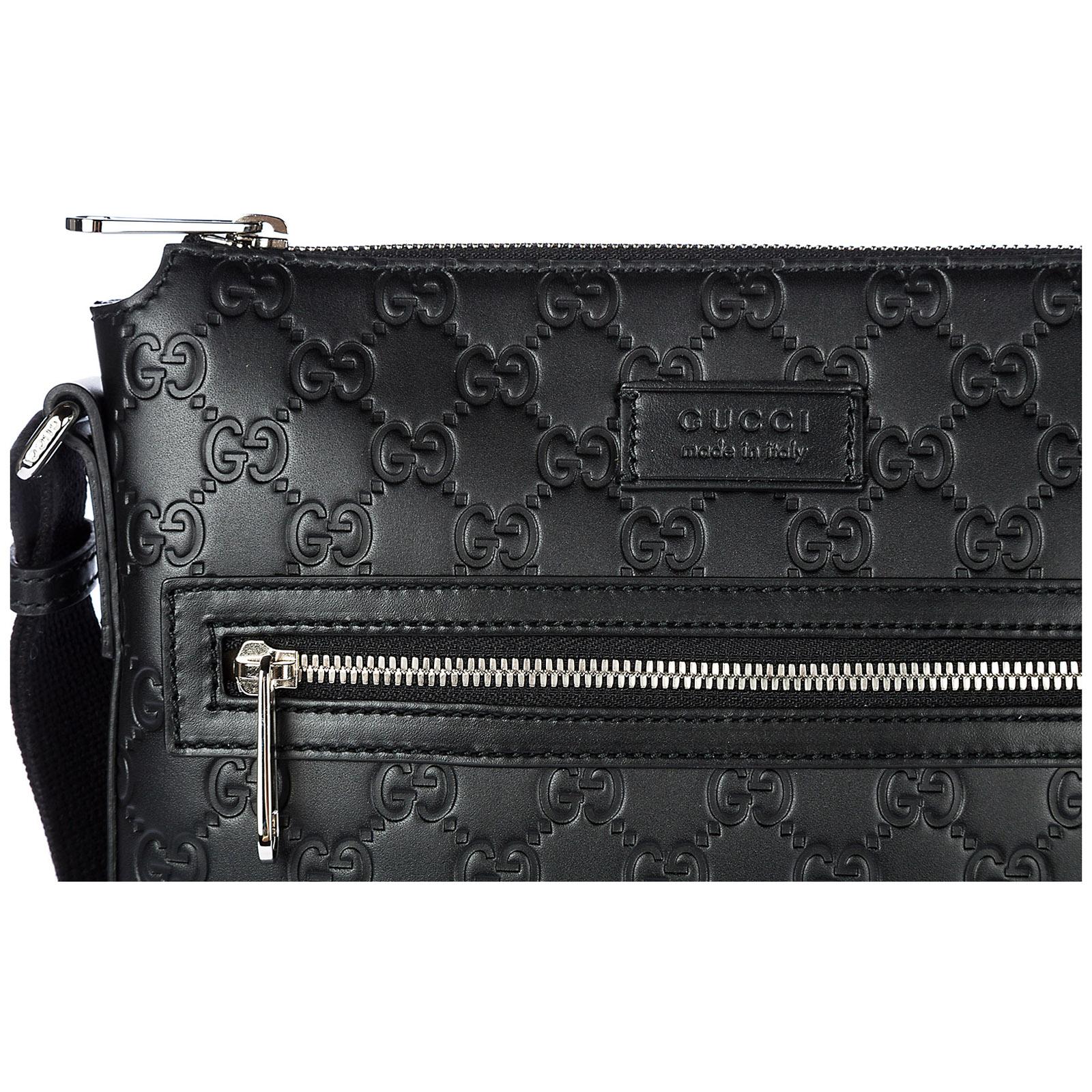 03799f61f004 Gucci Men s leather cross-body messenger shoulder bag signature