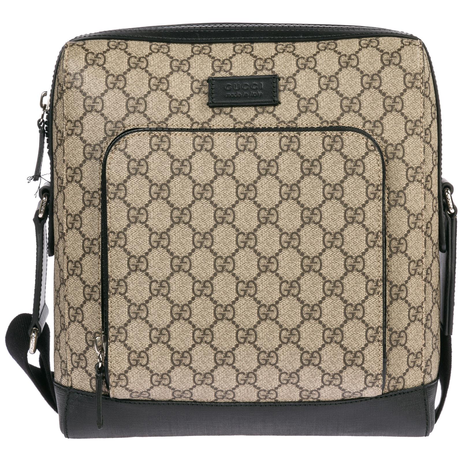 6a843a173df Gucci Men s cross-body messenger shoulder bag gg supreme