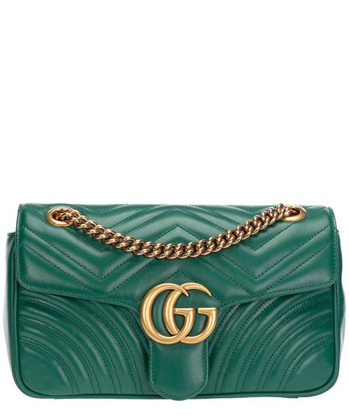 Shoulder bag Gucci Marmont 443497 DTDIT 3120 verde