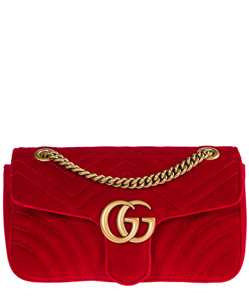 Borsa a spalla Gucci GG Marmont 443497 K4D2T 6433 rosso