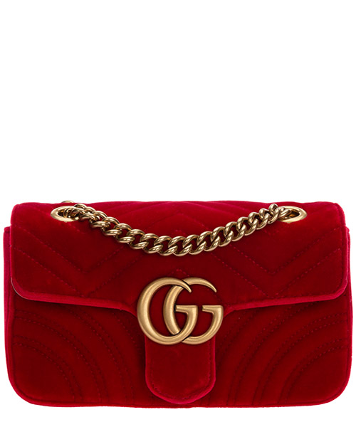 Crossbody bags Gucci Marmont 446744 K4D2T 6433 rosso