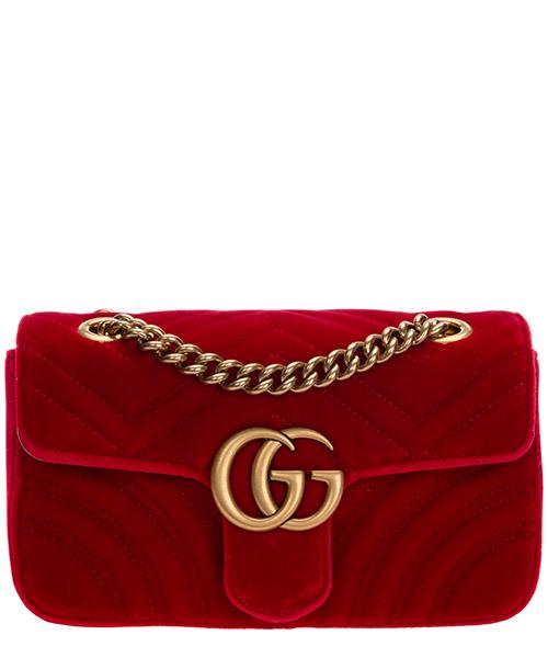 Umhängetasche Gucci marmont 446744 k4d2t 6433 rosso