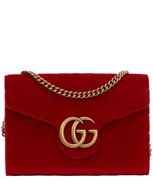 Borsa a spalla Gucci gg marmont 4745759qidt6433 rosso