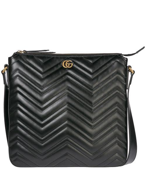 Borsa a tracolla Gucci Marmont 523369 DTDHT 1000 nero