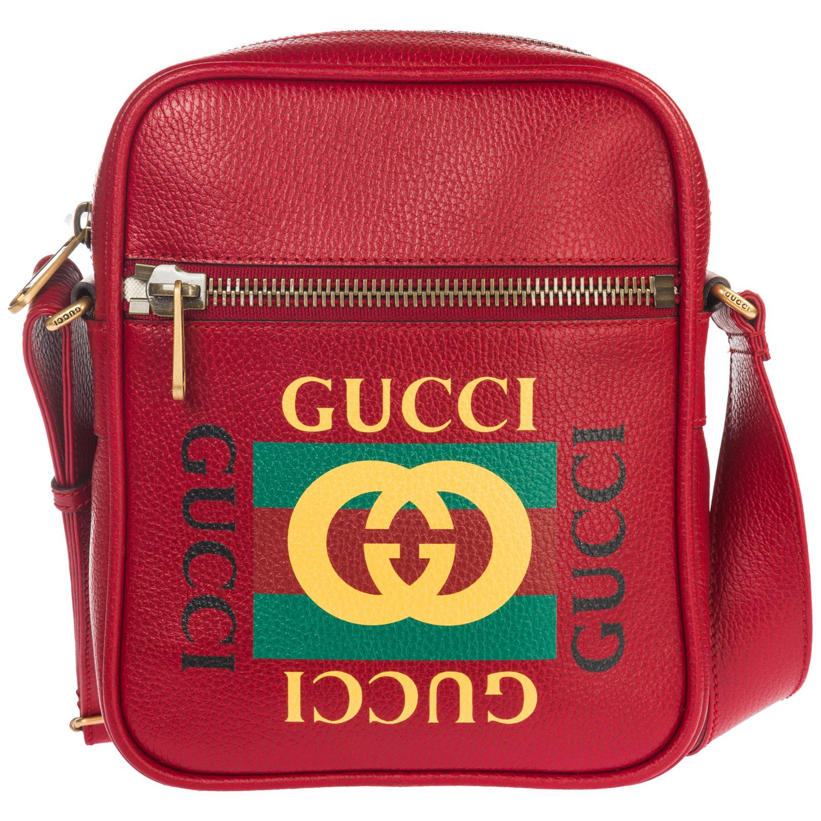 Borsa a tracolla Gucci Gucci Print 523591 0QSAT 6461 rosso  53e5164c08e