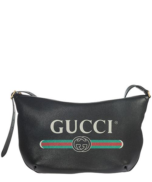 Borsa hobo Gucci Gucci Print 523588 0GCAT 8163 nero