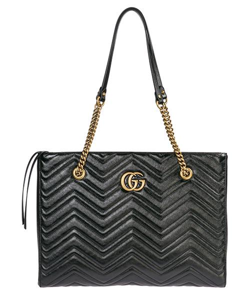 Borsa a spalla Gucci GG Marmont 524578 0OLAT 1000 nero