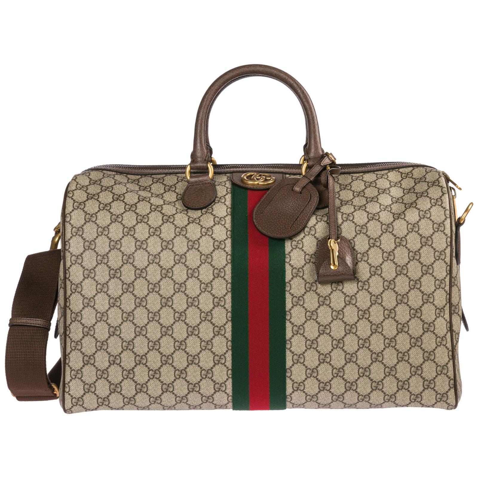 6e54d525aa Borsone da viaggio Gucci Ophidia 547953 9C2ST 8746 beige | FRMODA.com
