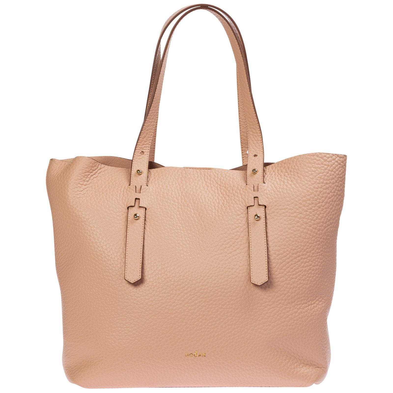 Hogan Women's Leather Shoulder Bag In Pink