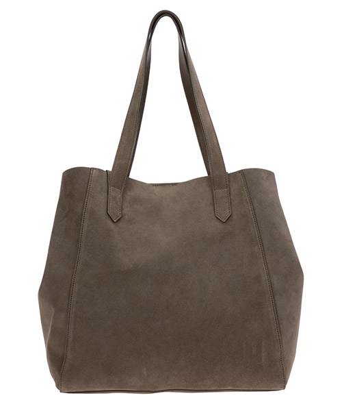 Women's suede shoulder bag secondary image