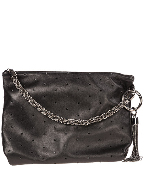 Clutch bag Jimmy Choo Callie CALLIENCR black