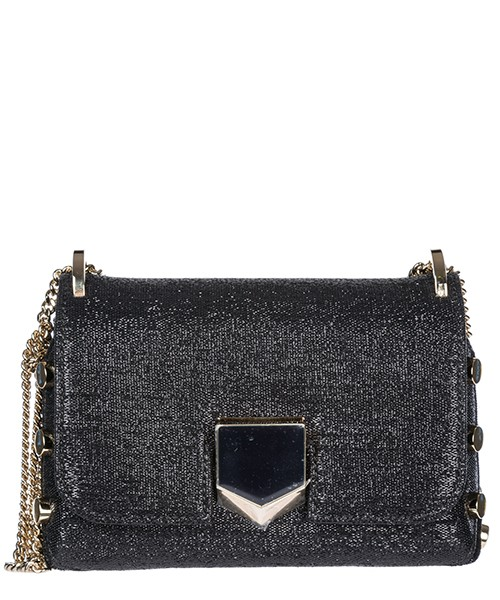 Borsa a spalla Jimmy Choo lockett mini lockettmin29hwfb nero