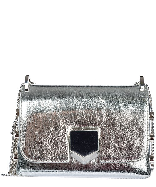 Sac porté épaule Jimmy Choo Lockett Mini LOCKETTMIN29ILKS argento