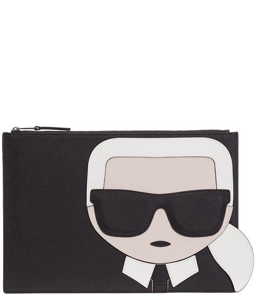 Clutch bag Karl Lagerfeld K/Ikonik 205W3239 nero