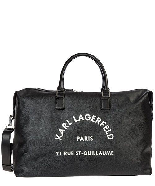 Duffle bag Karl Lagerfeld Rue St Guillaume 96KW3046 black