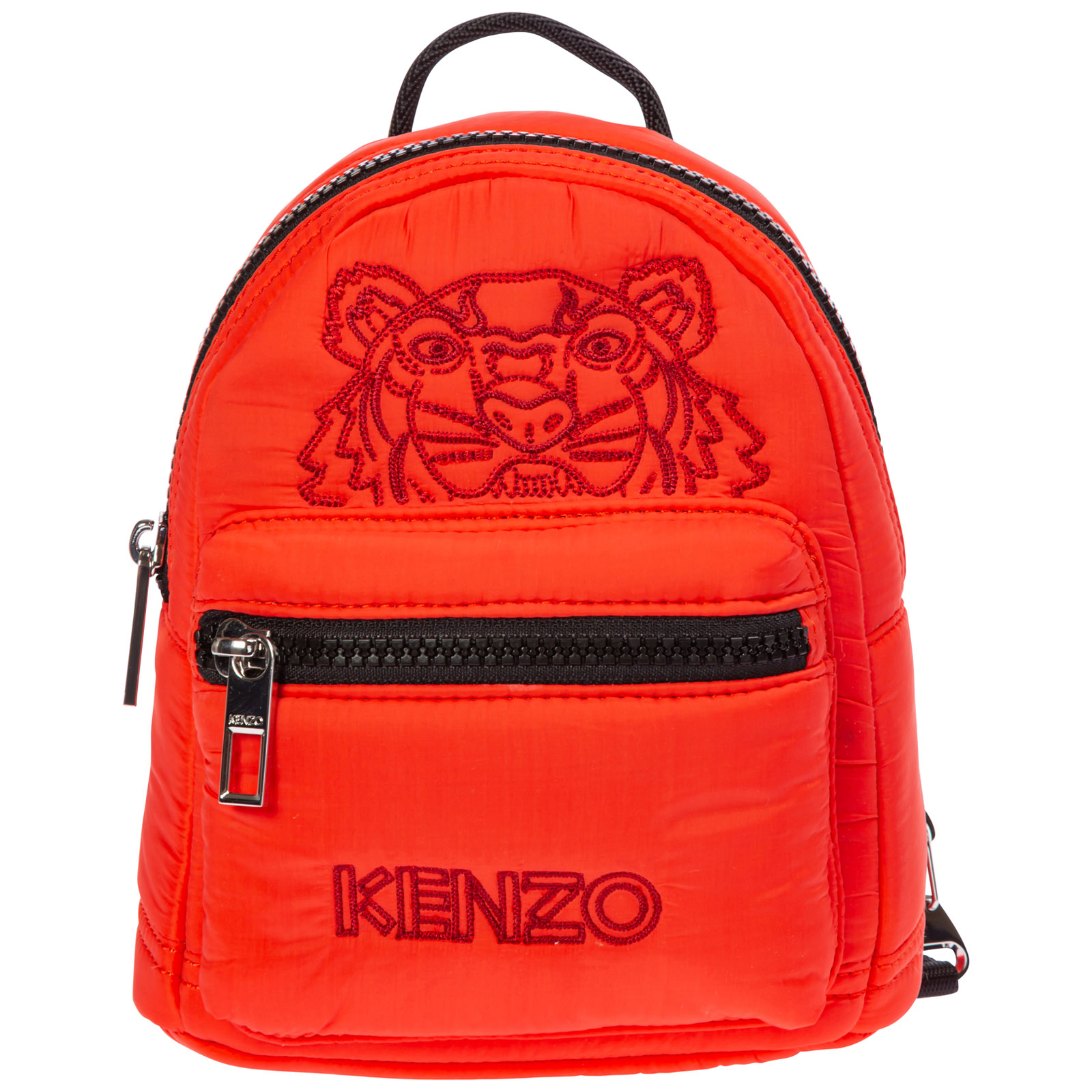Kenzo Women's Rucksack Backpack Travel  Tiger In Red