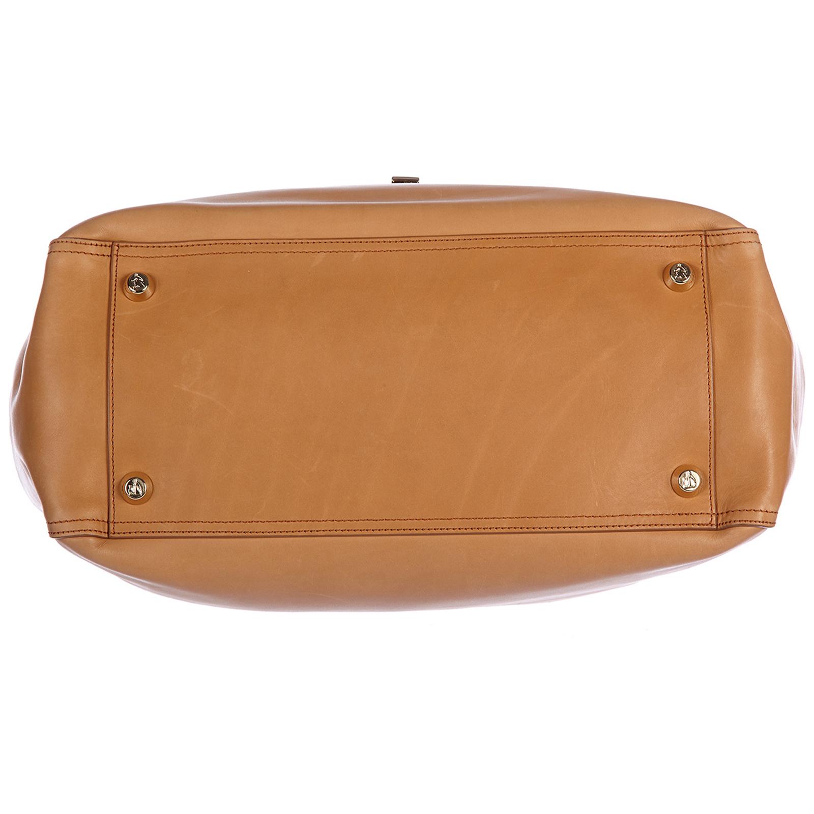 Women's leather handbag shopping bag purse bowling