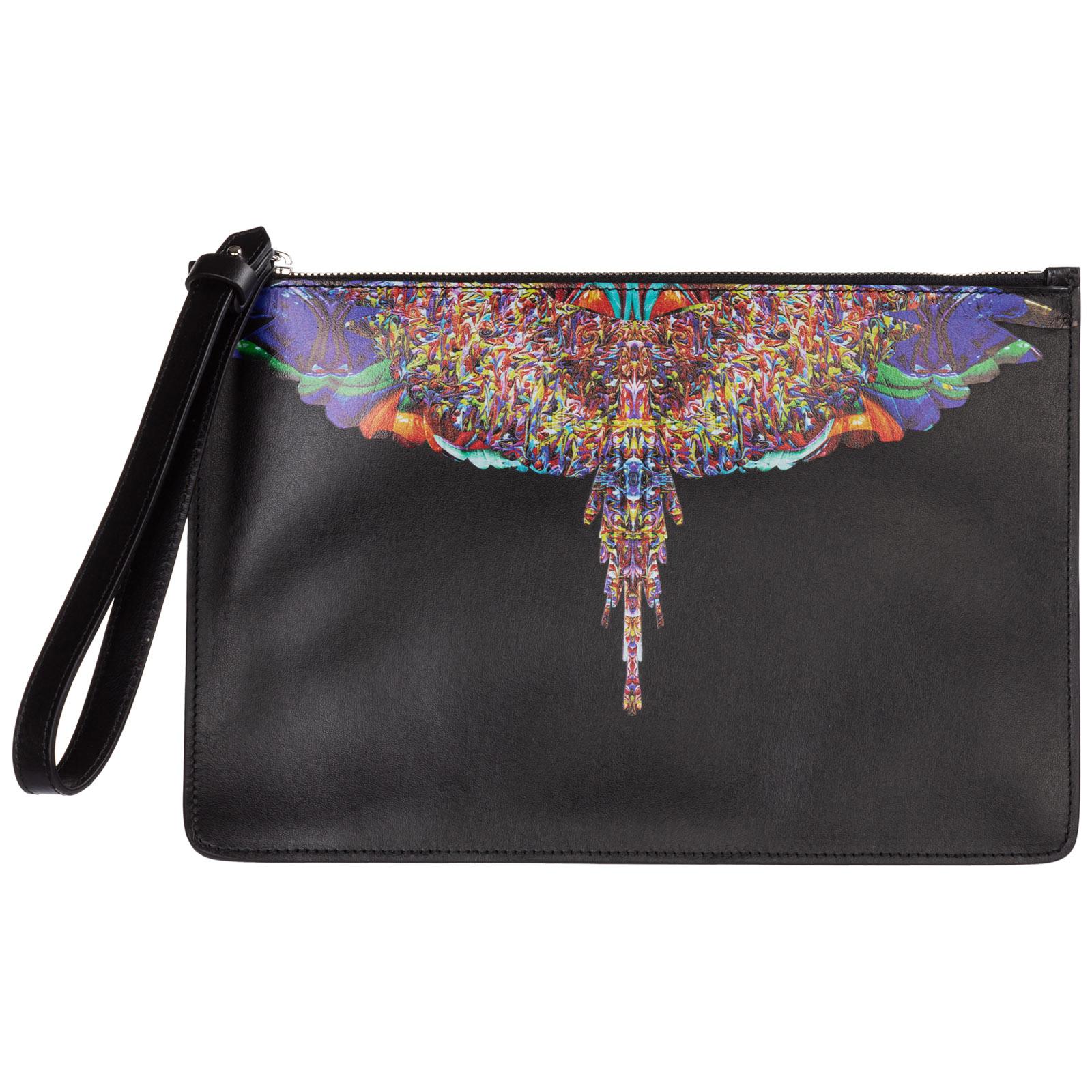 Marcelo Burlon County Of Milan Men S Briefcase Document Holder Wallet Multicolor Wings In Black Modesens