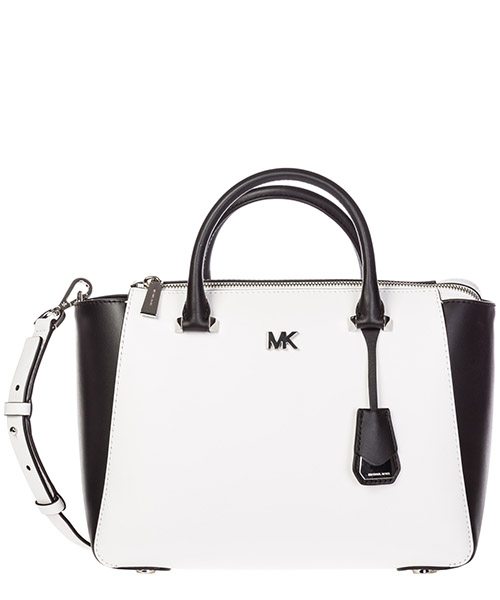 Handbag Michael Kors Nolita 30S8SY5S2T optic white / black