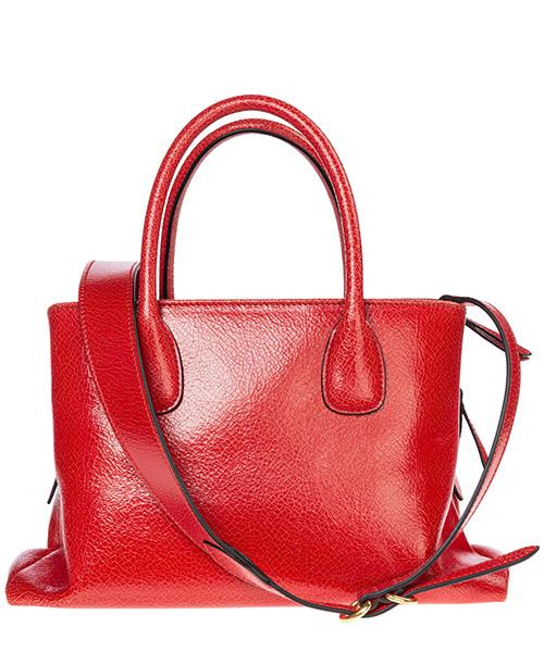 Women's leather handbag shopping bag purse craquelé secondary image