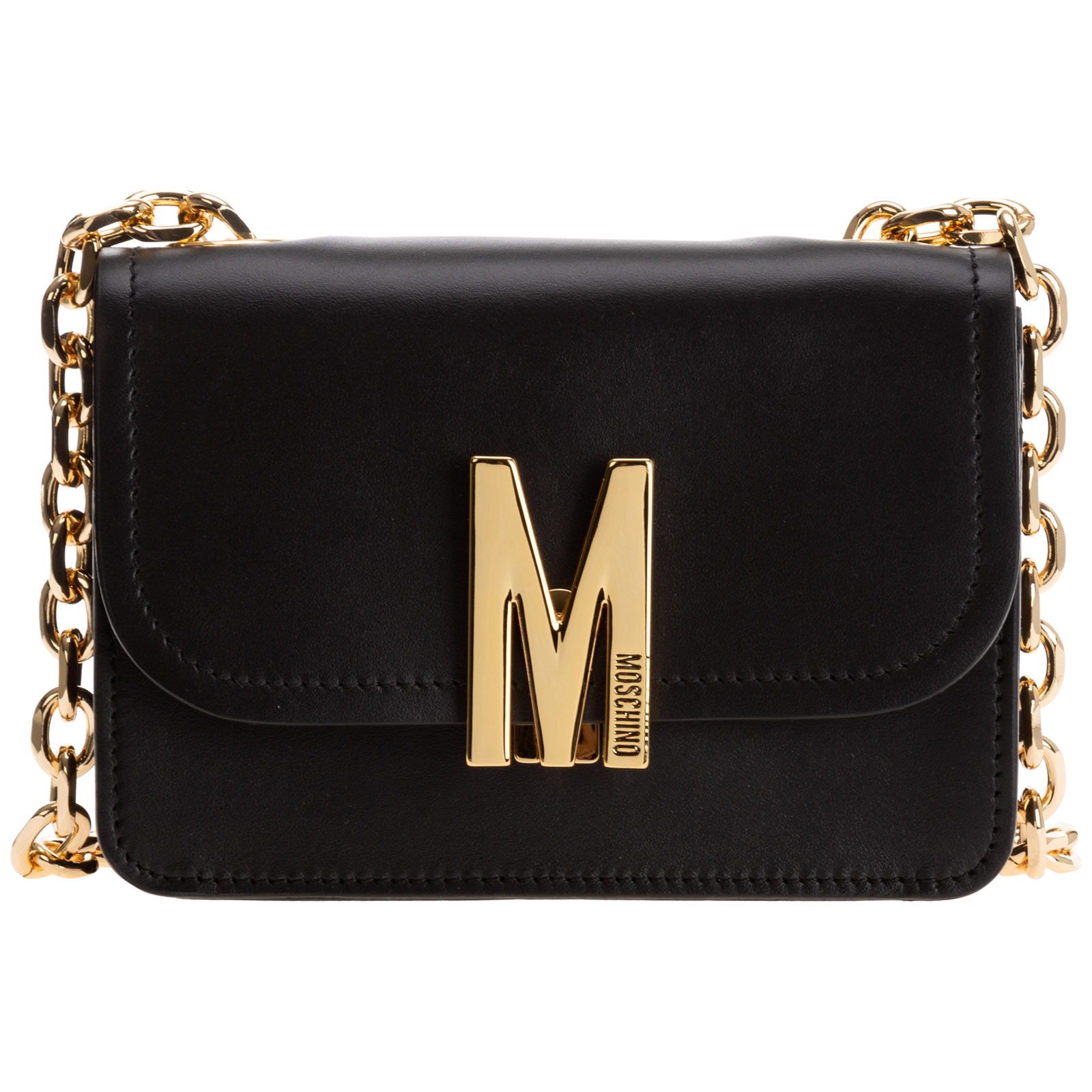 Moschino WOMEN'S LEATHER SHOULDER BAG M