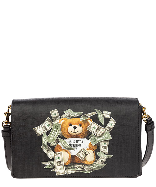 Shoulder bag Moschino dollar teddy bear a752182103555 nero