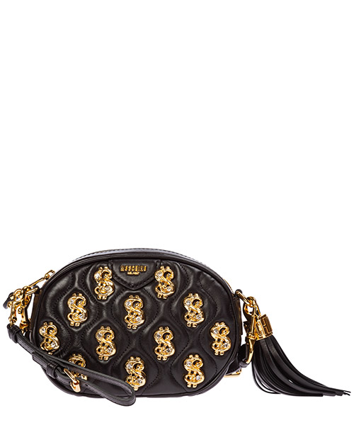 Clutch bag Moschino dollar studs a755380021555 nero