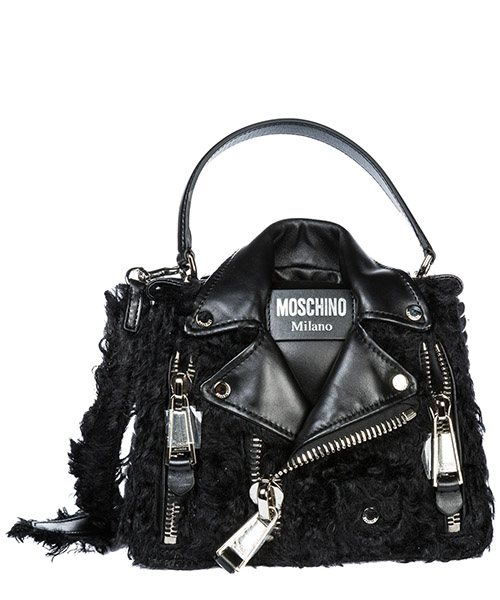 Handbag Moschino New biker A755782138555 nero