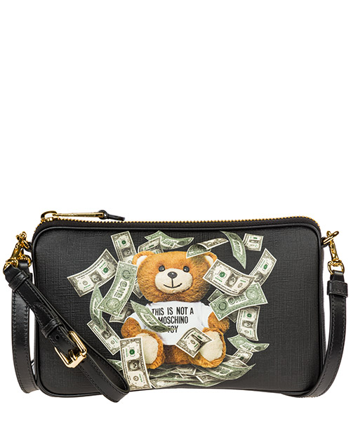 Shoulder bag Moschino Dollar Teddy Bear A756782103555 nero