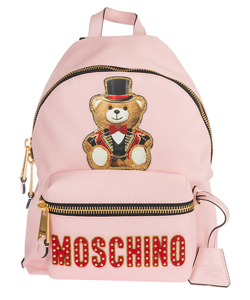 Backpack Moschino Teddy Circus 1917 A763382101224 rosa