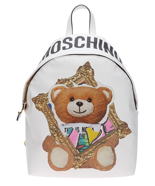 Rucksack Moschino frame teddy bear a763682102001 bianco