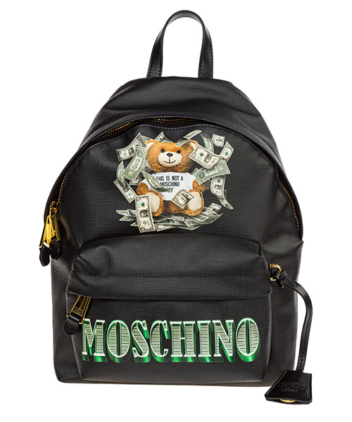 Sac à dos Moschino dollar teddy bear a763682103555 nero