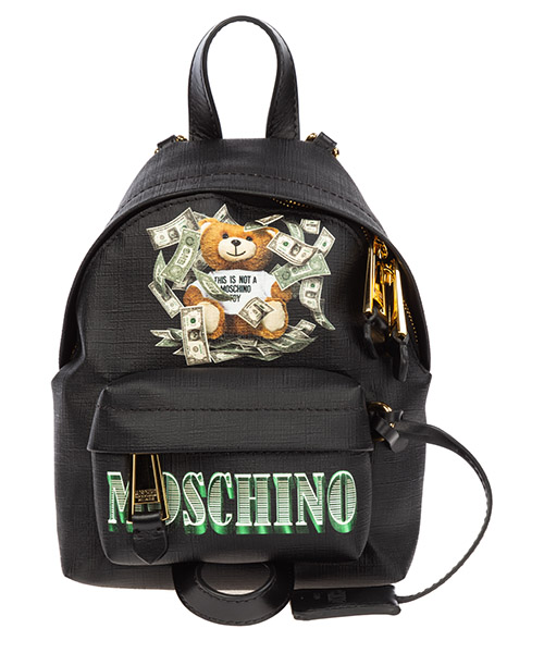 Backpack Moschino dollar teddy bear a763782103555 nero