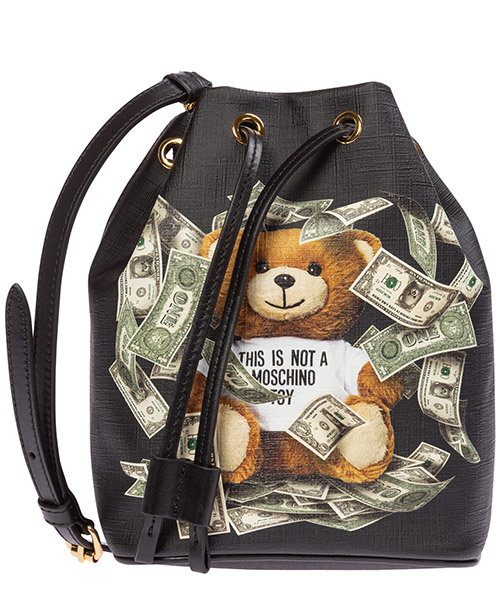 Shoulder bag Moschino dollar teddy bear a844582103555 nero