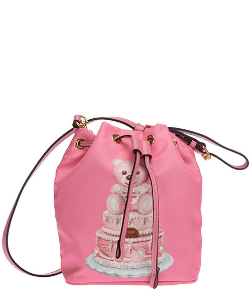 Beuteltasche Moschino cake teddy bear a844582131207 rosa