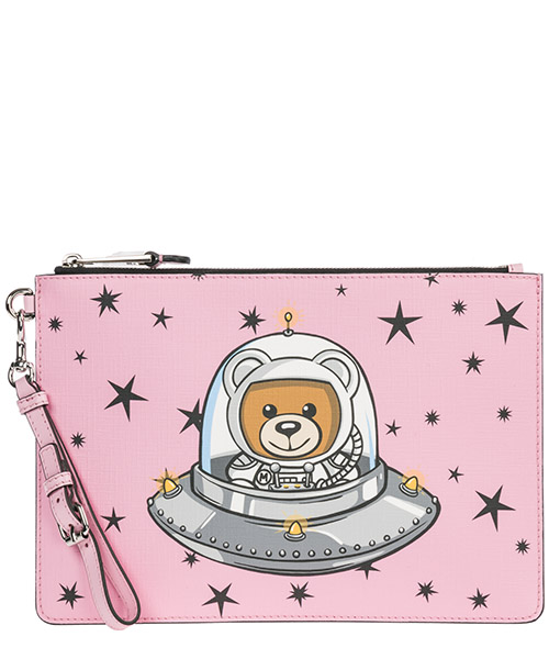 Clutch Moschino Ufo Teddy 1822 A844782101221 rosa