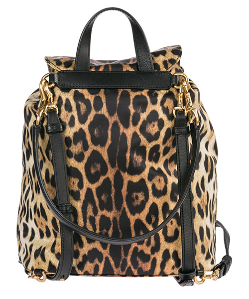 Women's rucksack backpack travel  leopard secondary image