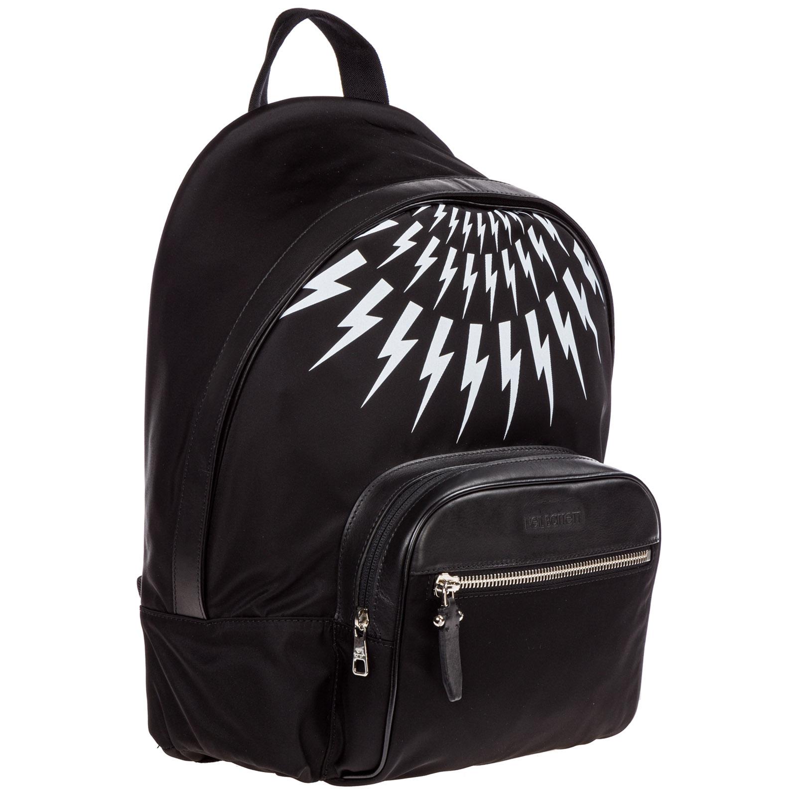 Men's nylon rucksack backpack travel  thunderbolt fair-isle