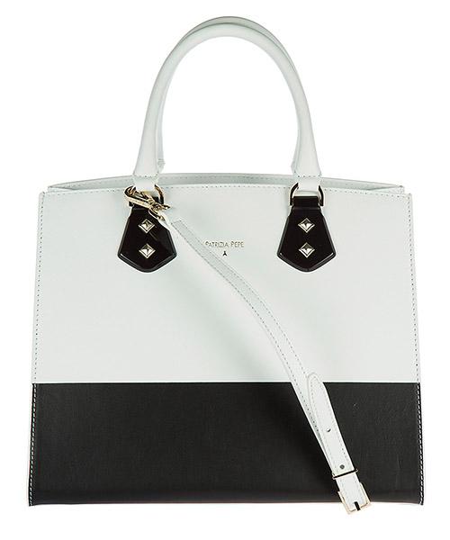 Handbag Patrizia Pepe 2V6087 A2OV X1MI white / black