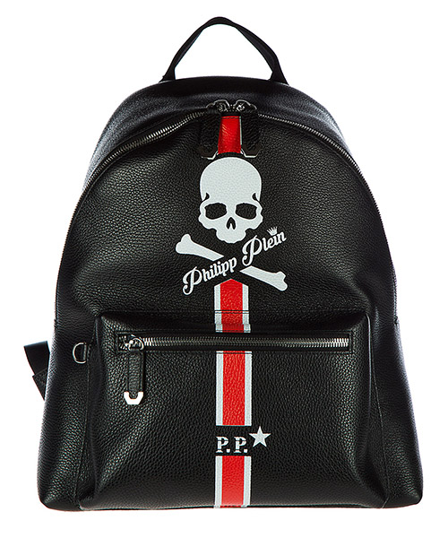 Rucksack Philipp Plein P17A-MBA0010-PLE006N black+red - nickel