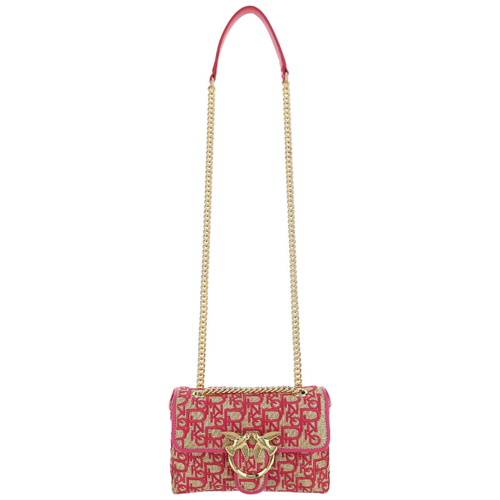 Pinko Leathers WOMEN'S LEATHER SHOULDER BAG LOVE PUFF MINI