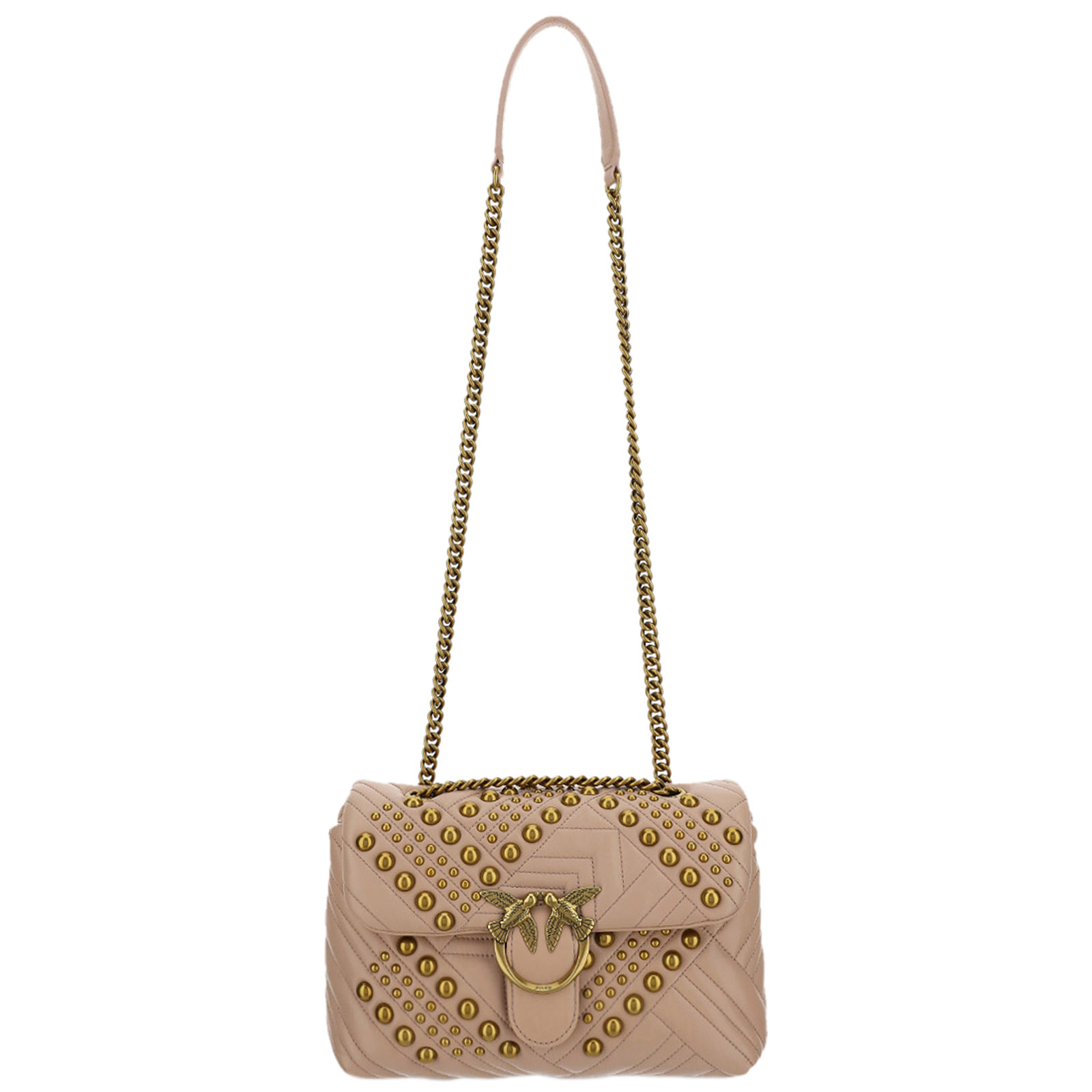 Pinko Leathers WOMEN'S LEATHER SHOULDER BAG LOVE CLASSIC
